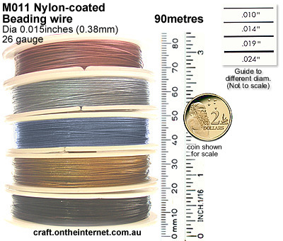M011 nylon coated bead wire in 90mtr reel