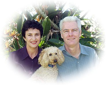 Wendy, John and Daisy (the dog)